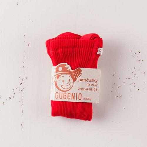 Punčochy se šlemi červené