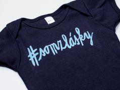 """Dětské tričko-""""Drzý děcko"""" #somzlasky navy"""