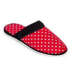 Pánské pantofle červená tečka