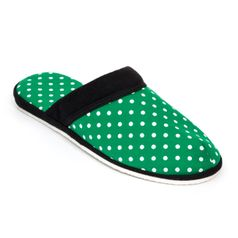 Pánské pantofle zelená tečka