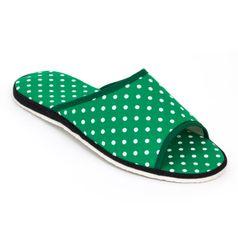 Pánské pantofle zelená tečka otevřené