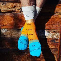 Ponožky unisex - Cyklista veselý