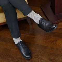 Ponožky unisex - Gentleman strieborný bambus