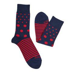 Ponožky unisex - Tečkoproužek krvavý