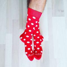 Ponožky unisex - Komanč červený