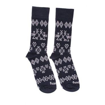 Ponožky unisex - Modrotlač Čičmany