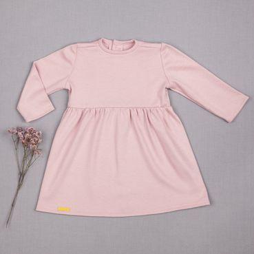 Šaty růžové řasené GOTS