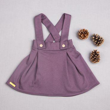 Sukně fialová zateplená - GOTS