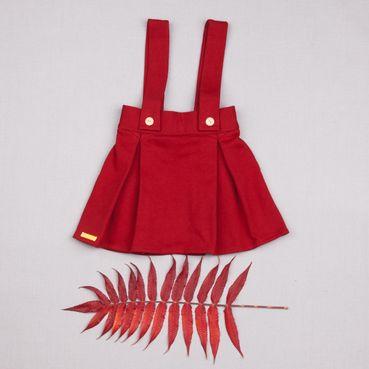 Sukně tmavě červená zateplená - GOTS