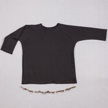 Tričko černé dlouhy rukáv - GOTS