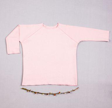 Tričko růžové dlouhy rukáv - GOTS