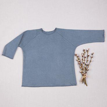 Tričko šedá tmavá dlouhy rukáv - GOTS