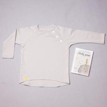 Tričko šedé dlouhy rukáv - GOTS