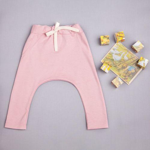 Tepláky růžové - GOTS